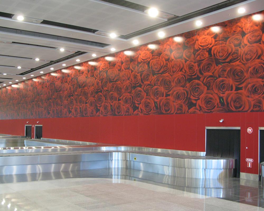 Lacobel Printed Roses Burgas Airport