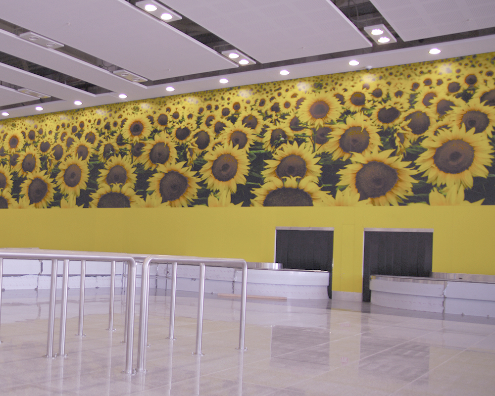 Lacobel Printed Sunflowers New Varna Airport